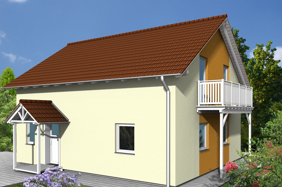 haustyp alweda holzhaus mit optimaler dachabschleppung individuelles wohnen. Black Bedroom Furniture Sets. Home Design Ideas