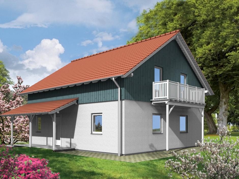 Haustyp Bugaro - Holzhaus mit hohem Kniestock und perfekter ...