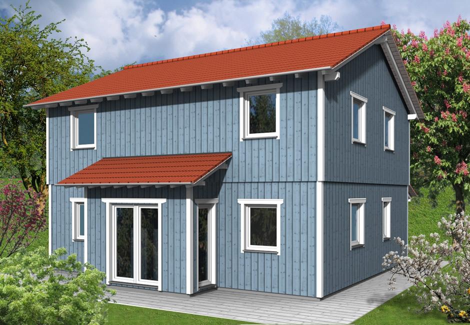 haustyp gorum holzhaus mit zwei vollgeschossen ideal f r familie. Black Bedroom Furniture Sets. Home Design Ideas