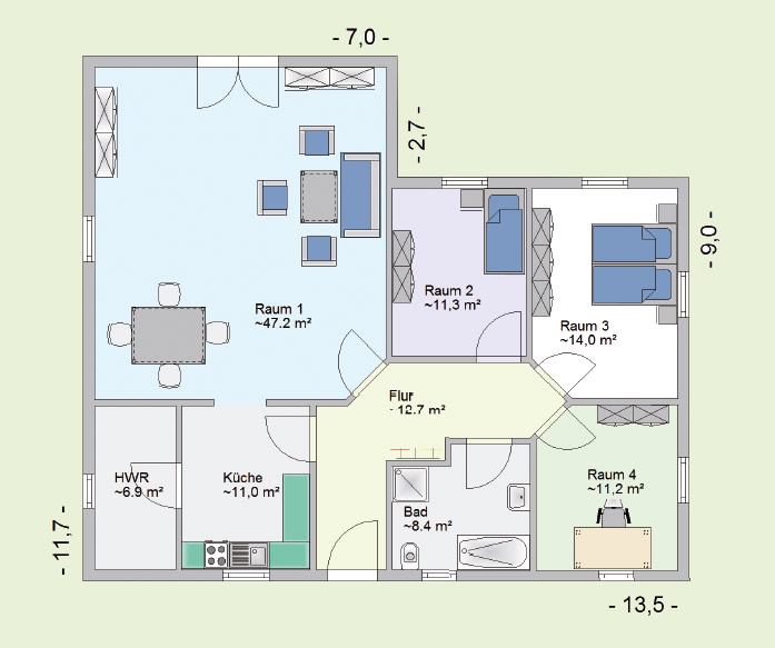 haustyp tuva wohnen auf einer ebene holzhaus f r kleine familie. Black Bedroom Furniture Sets. Home Design Ideas