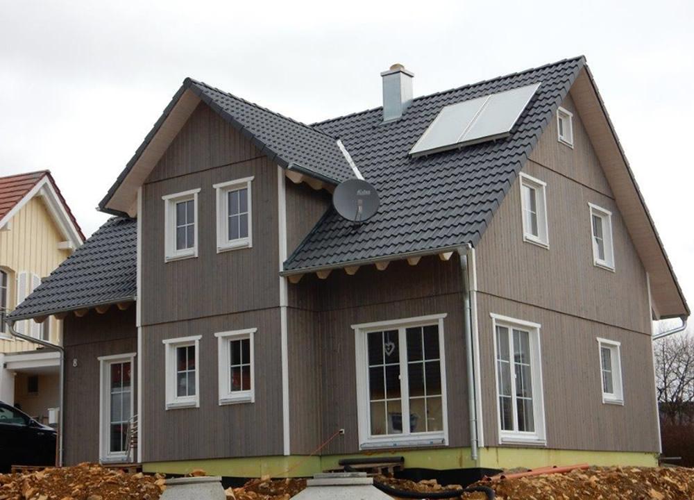 Schwedenhaus Fassade mit Silikatfarben