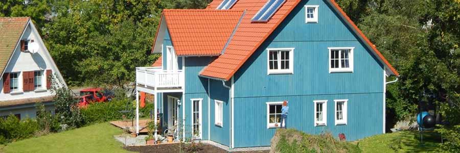 Für umweltbewusste Häuslebauer: Schlüsselfertiges Holzhaus